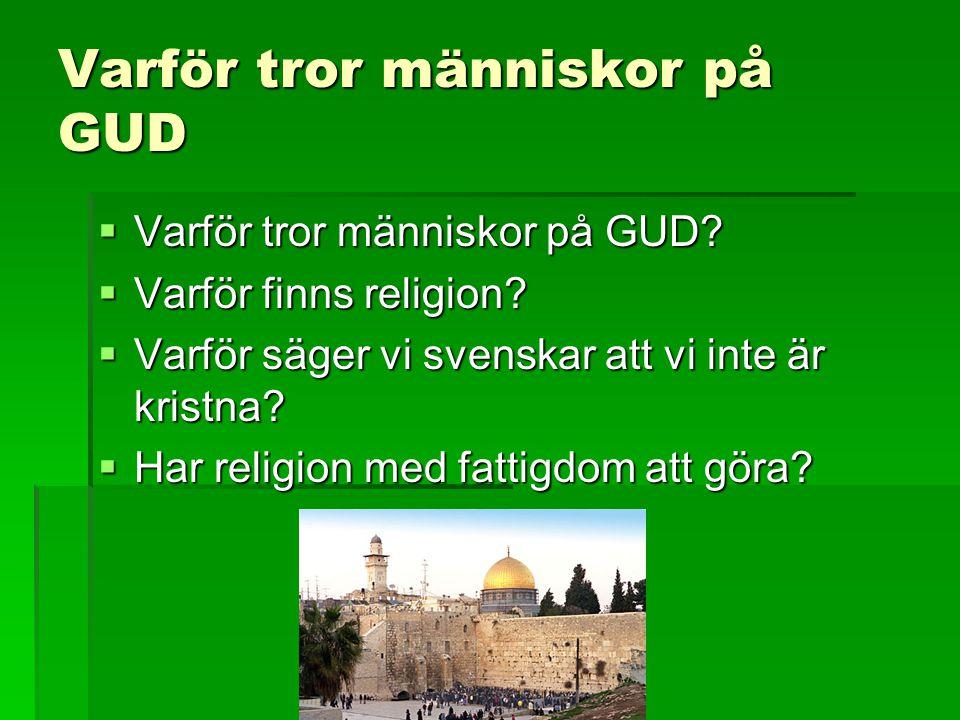 Varför tror människor på GUD