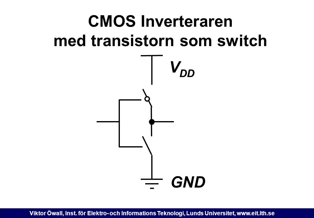 CMOS Inverteraren med transistorn som switch