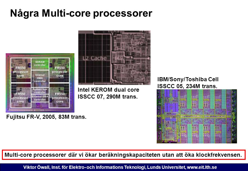Några Multi-core processorer