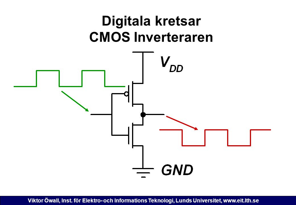 Digitala kretsar CMOS Inverteraren