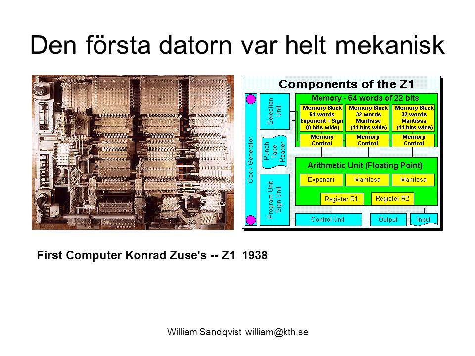 Den första datorn var helt mekanisk