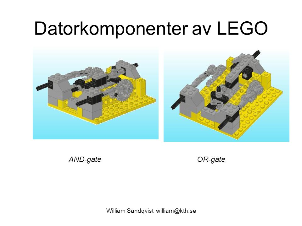 Datorkomponenter av LEGO
