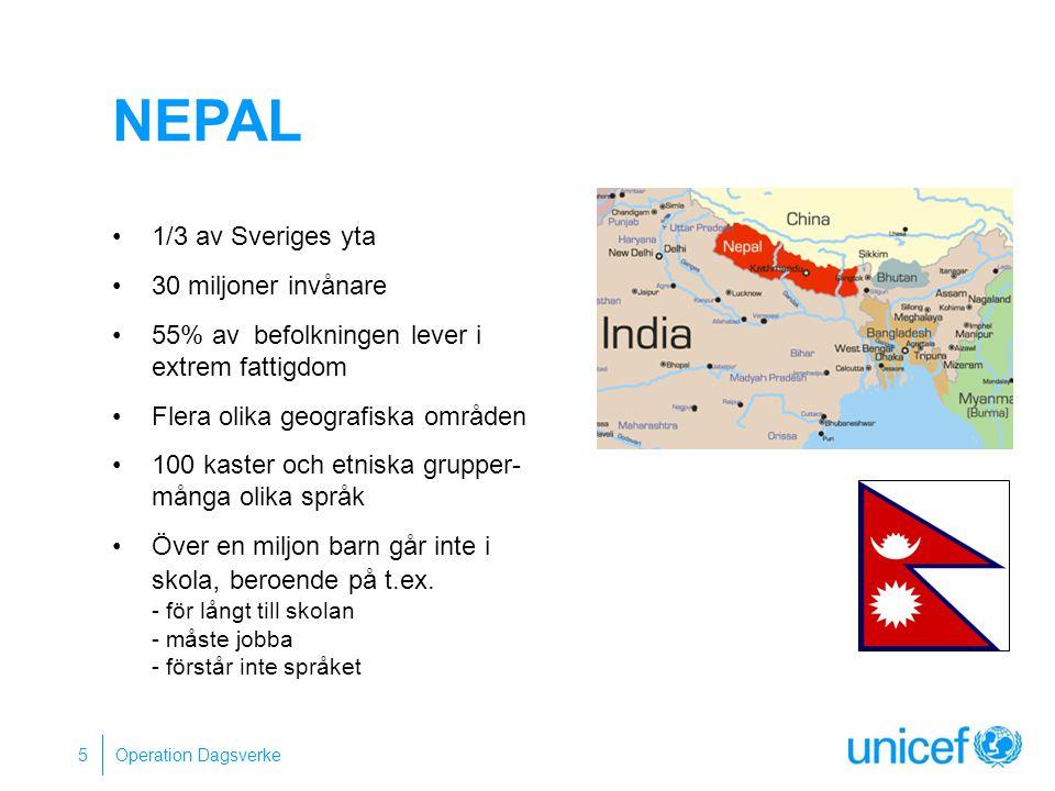 Nepal 1/3 av Sveriges yta 30 miljoner invånare