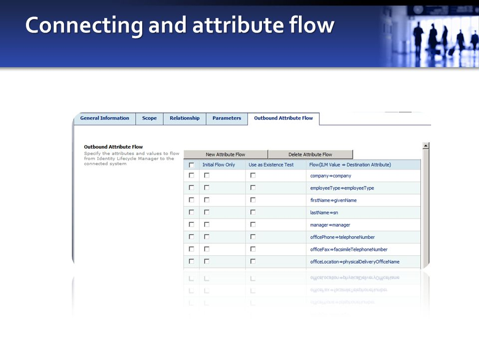 Connecting and attribute flow