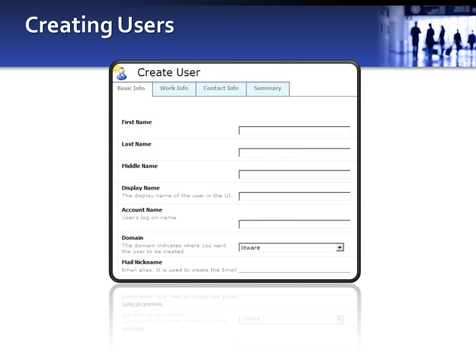 Creating Users