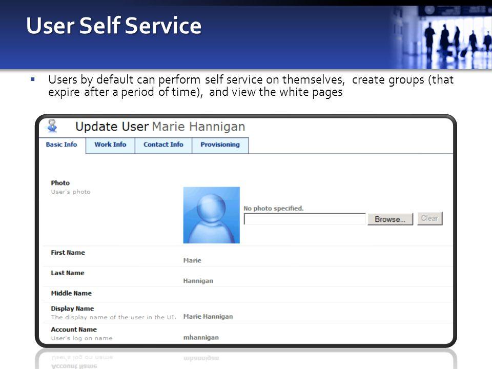 User Self Service