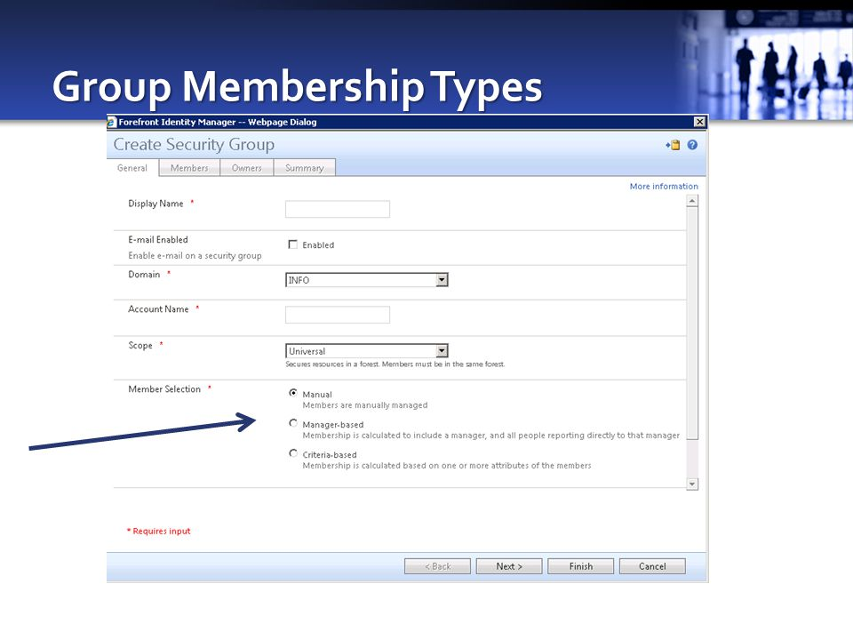 Group Membership Types