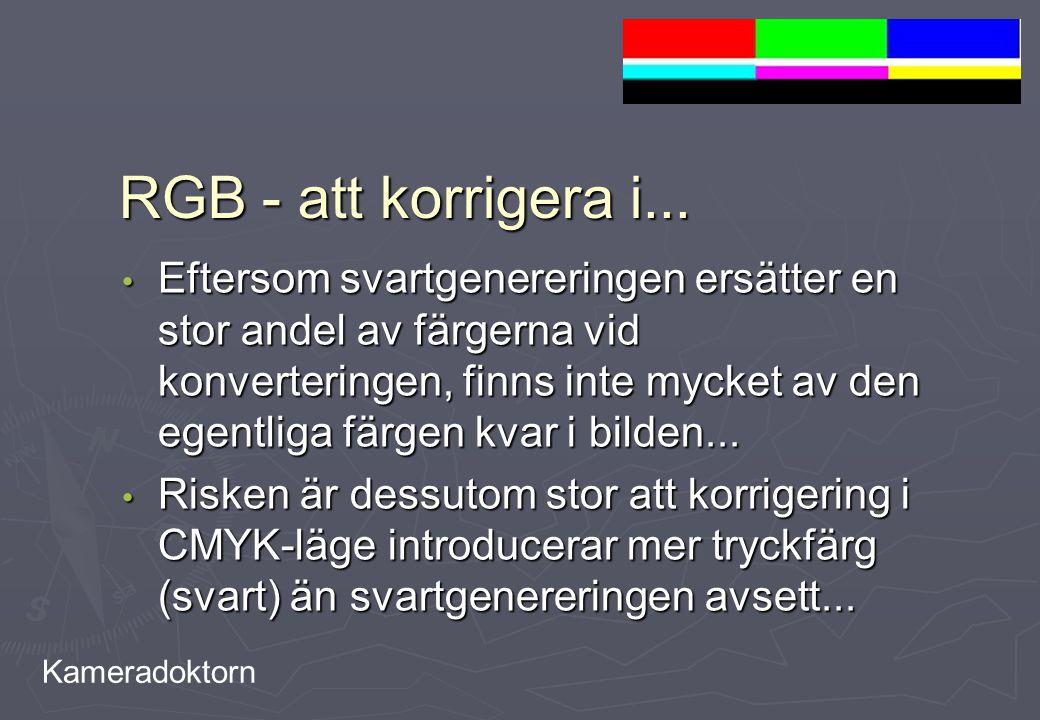 RGB - att korrigera i...