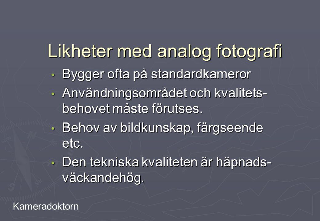 Likheter med analog fotografi