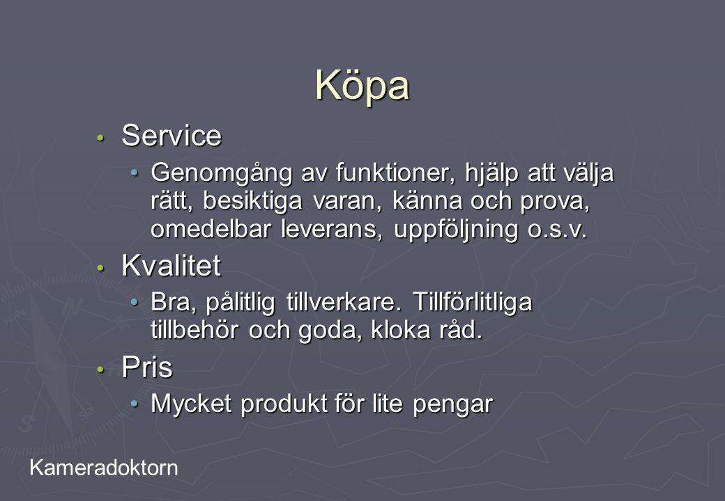 Köpa Service Kvalitet Pris
