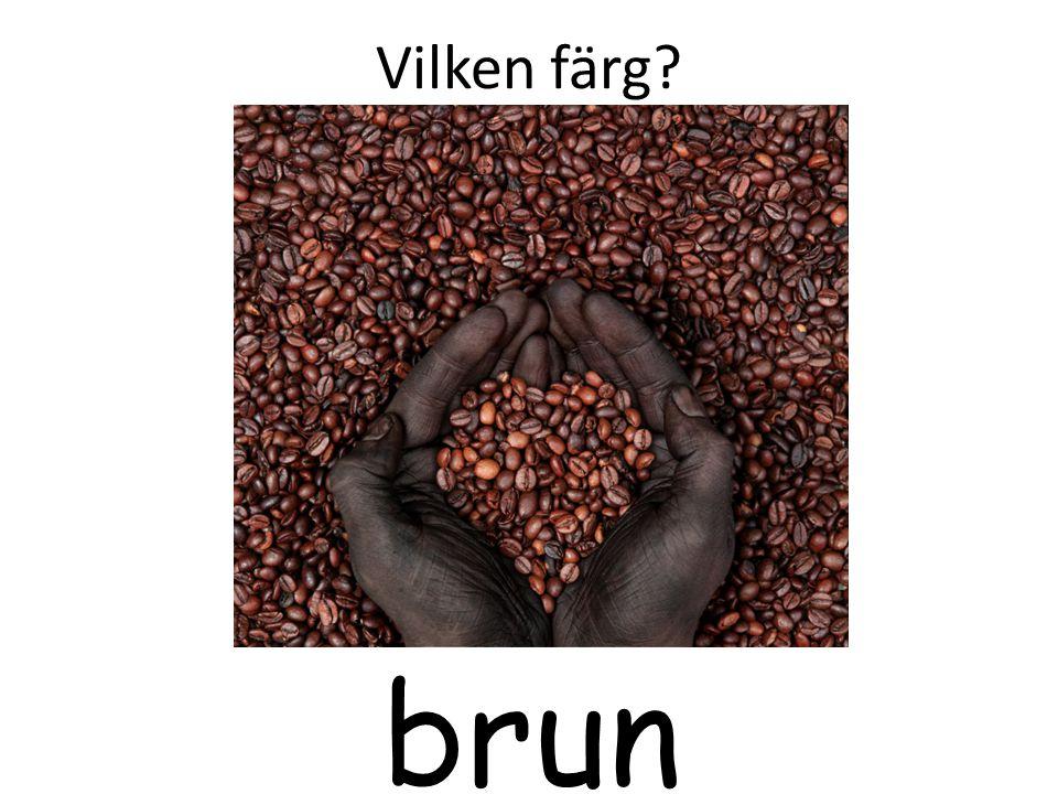 Vilken färg brun