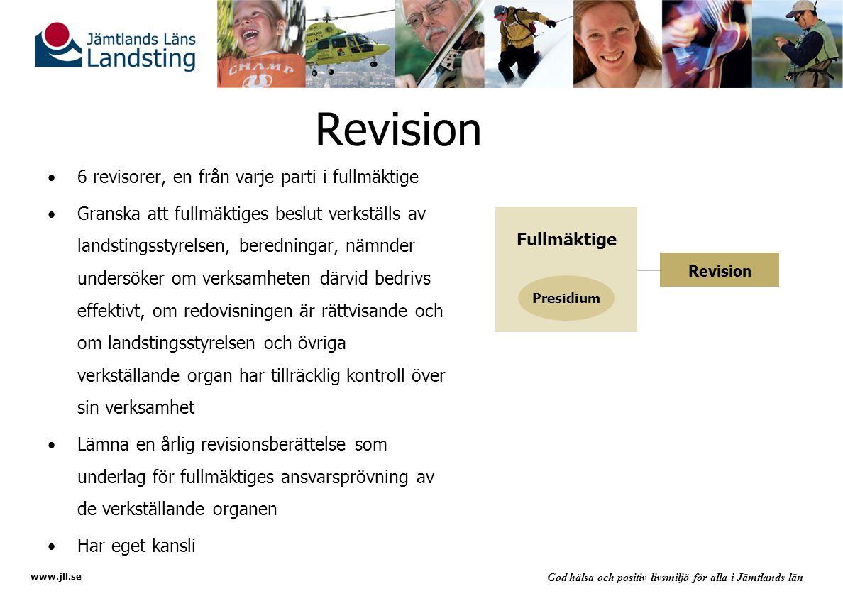 Revision 6 revisorer, en från varje parti i fullmäktige