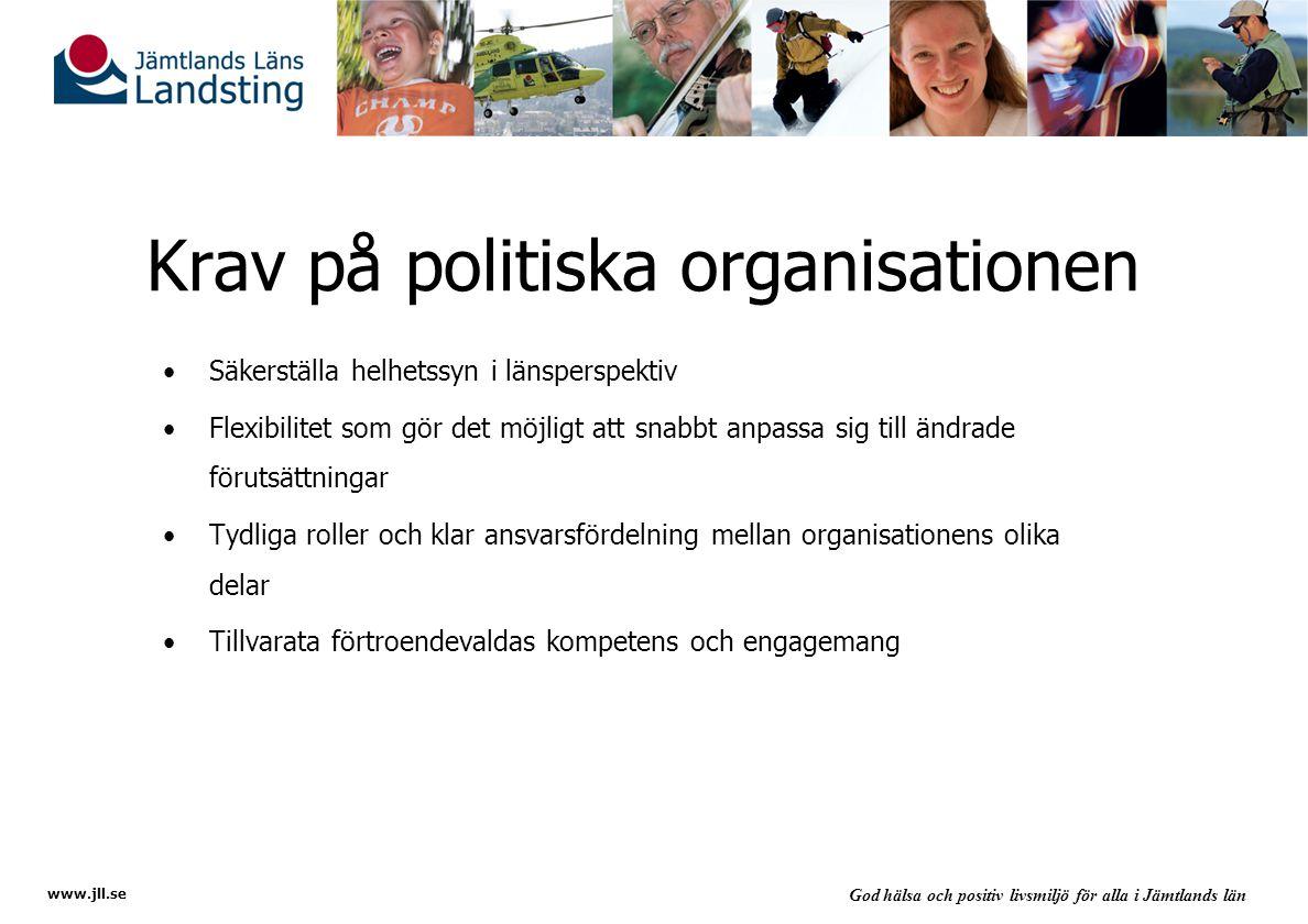 Krav på politiska organisationen
