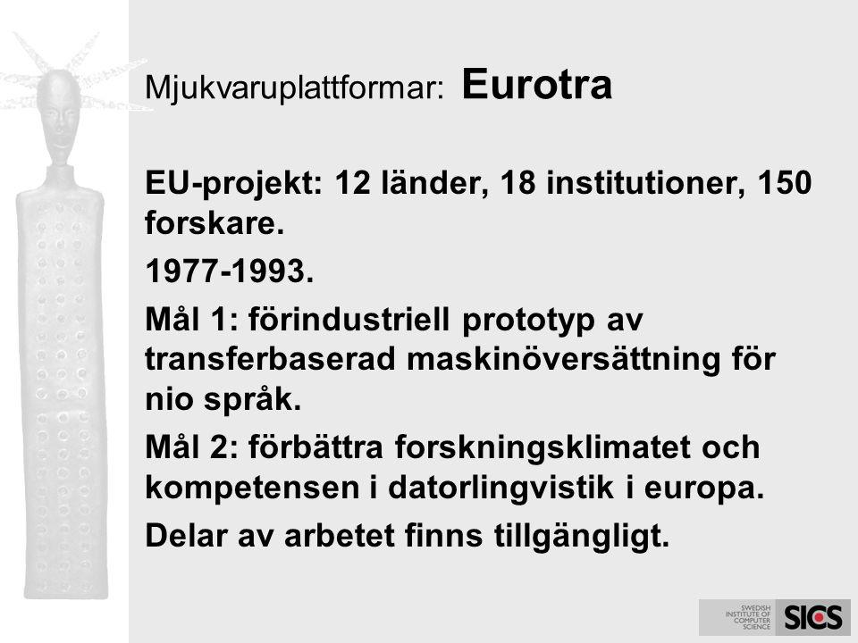 Mjukvaruplattformar: Eurotra