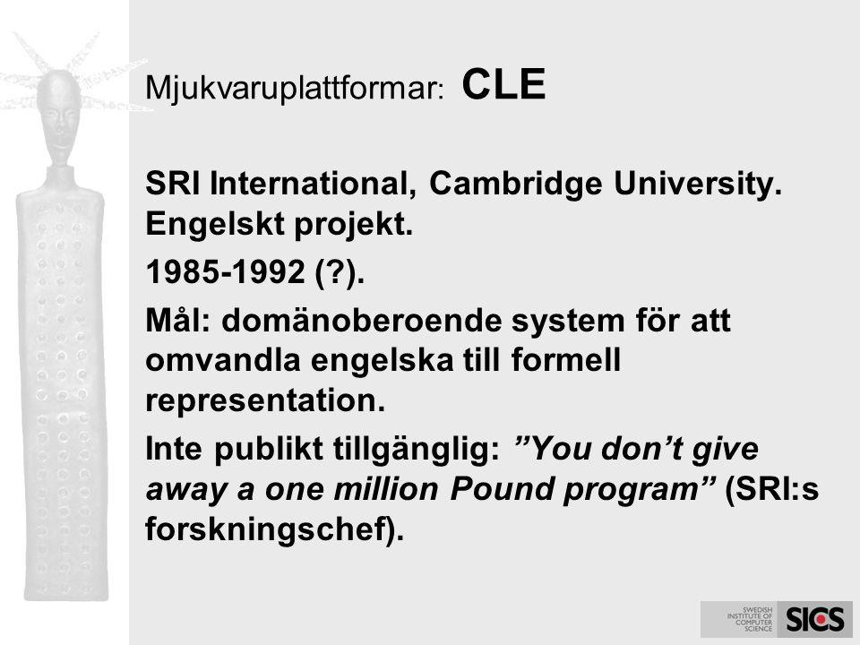Mjukvaruplattformar: CLE
