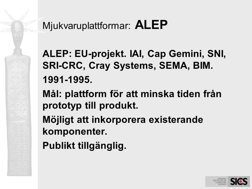 Mjukvaruplattformar: ALEP