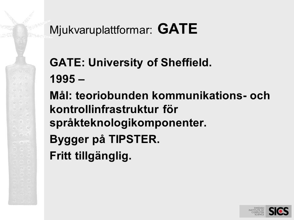 Mjukvaruplattformar: GATE