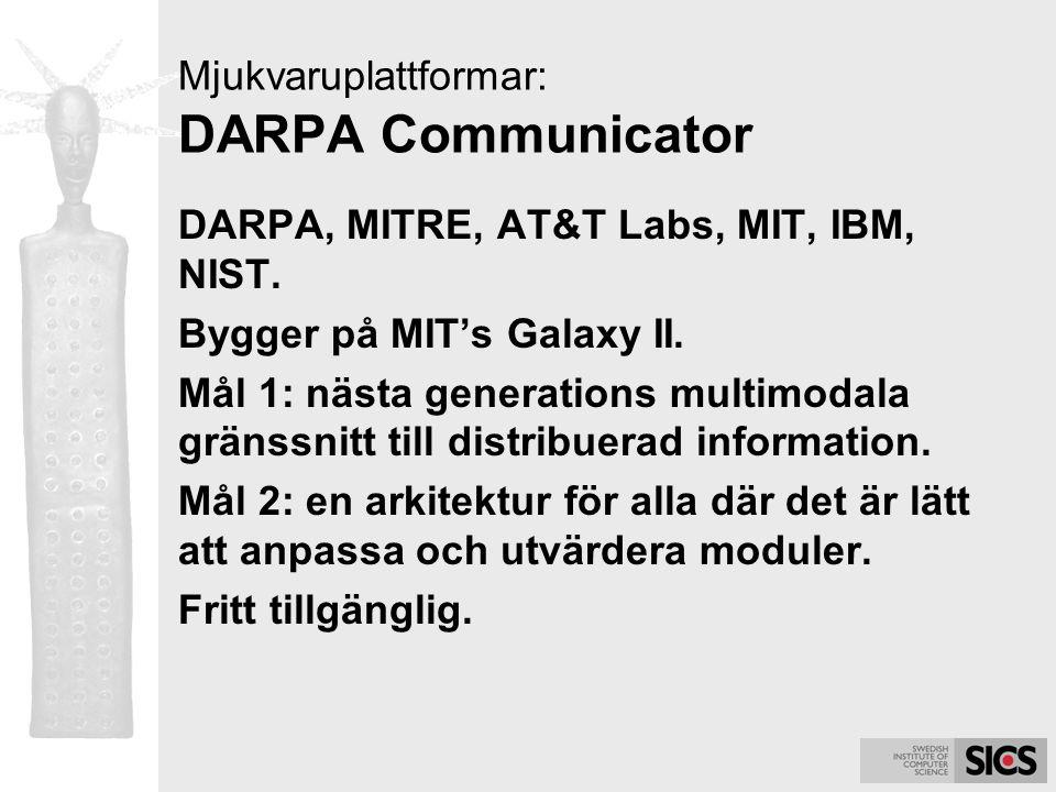 Mjukvaruplattformar: DARPA Communicator