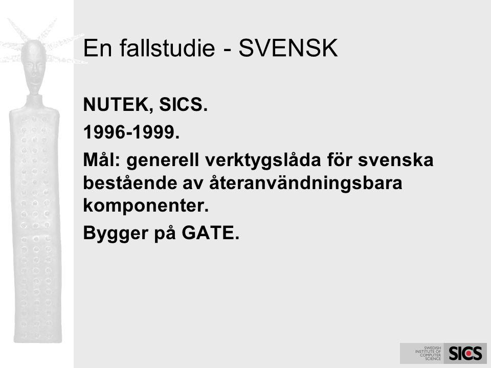 En fallstudie - SVENSK NUTEK, SICS. 1996-1999.