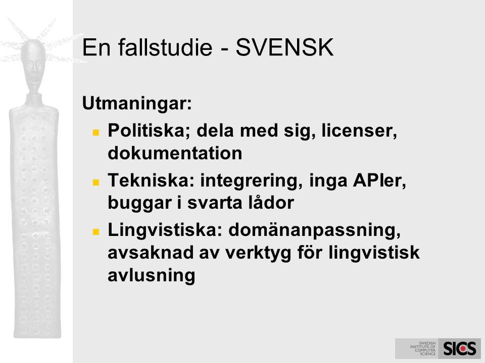En fallstudie - SVENSK Utmaningar: