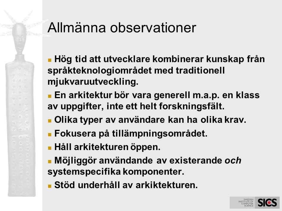 Allmänna observationer