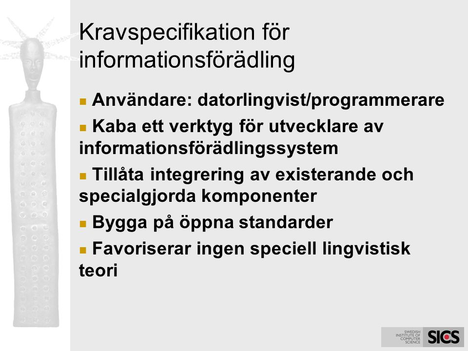 Kravspecifikation för informationsförädling