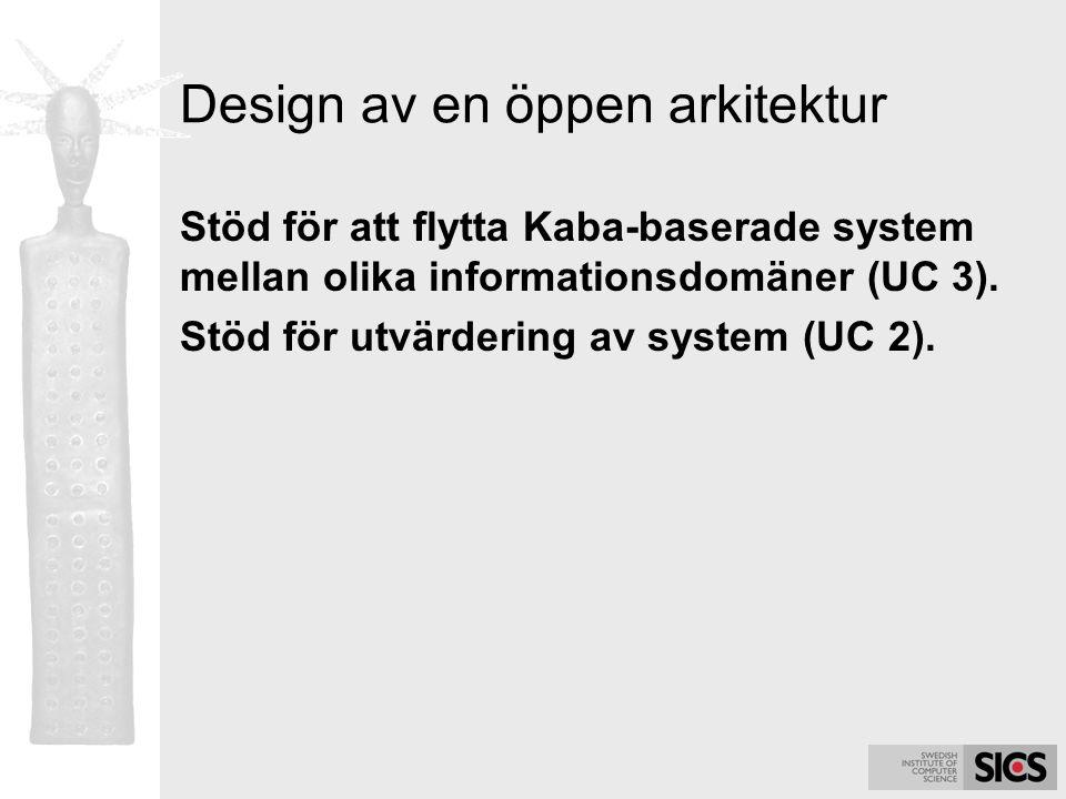 Design av en öppen arkitektur