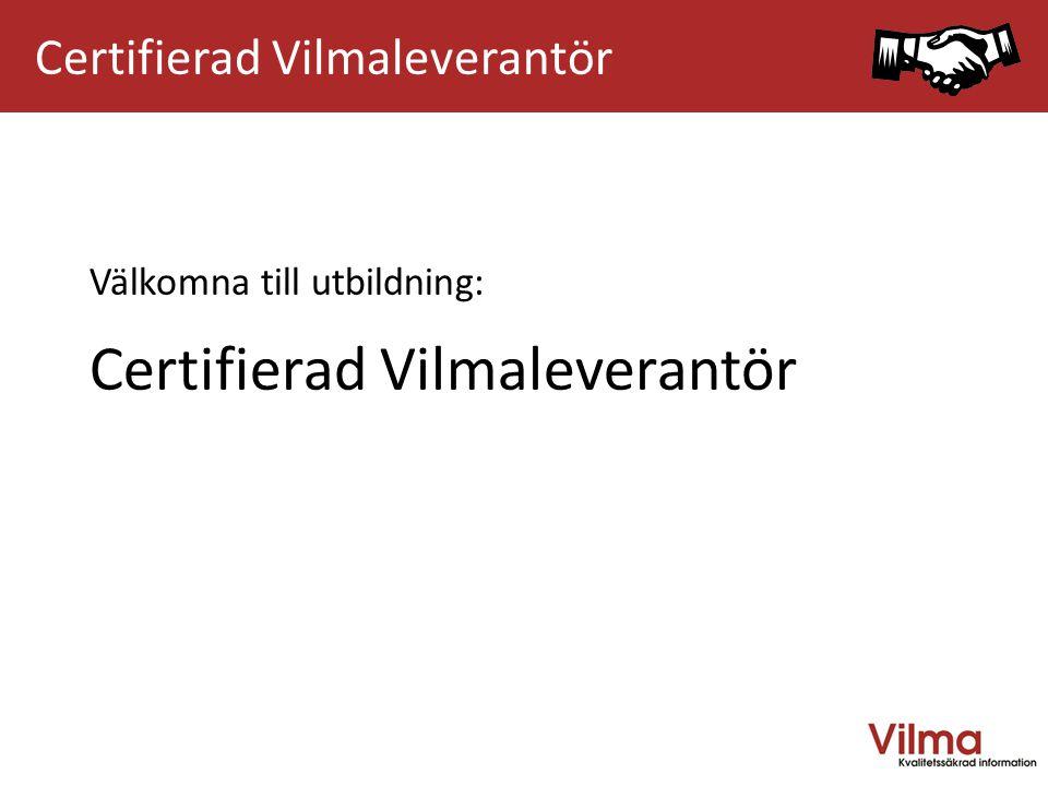 Välkommen till Vilmautbildning