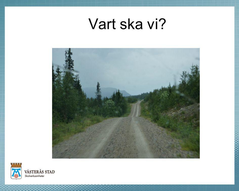 Vart ska vi Beställar- och utförarorganisation i Västerås.