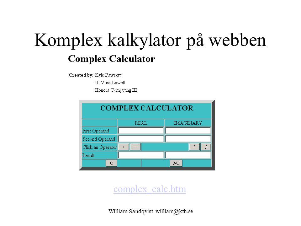 Komplex kalkylator på webben