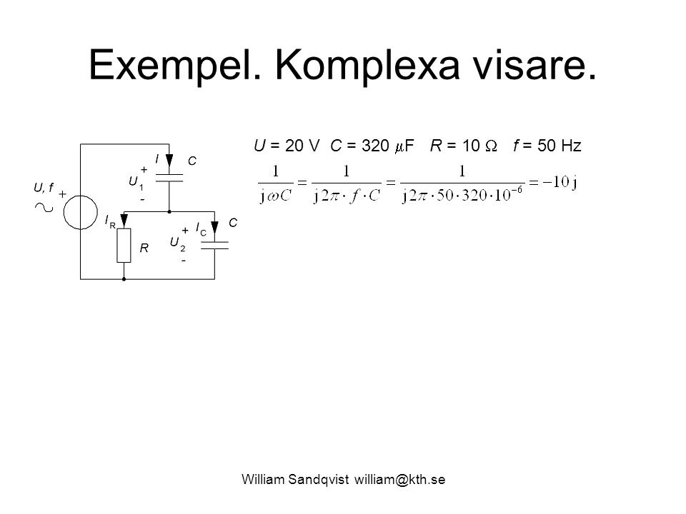Exempel. Komplexa visare.