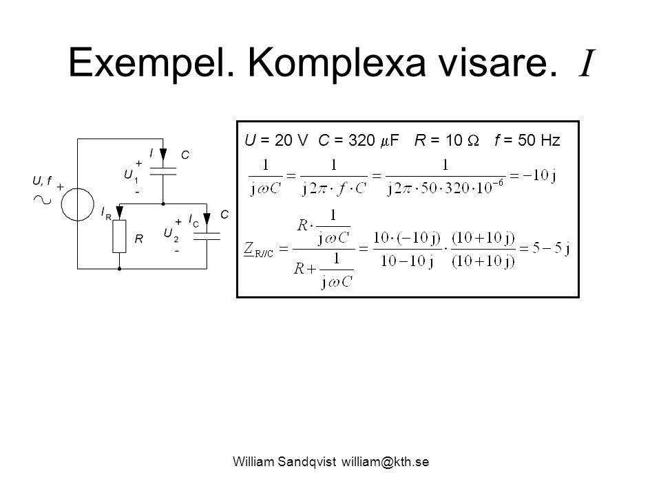 Exempel. Komplexa visare. I
