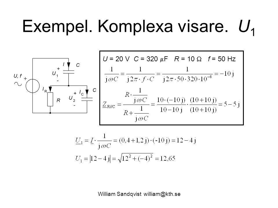 Exempel. Komplexa visare. U1