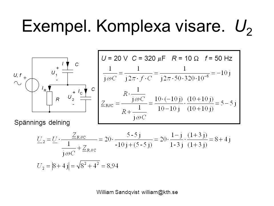Exempel. Komplexa visare. U2