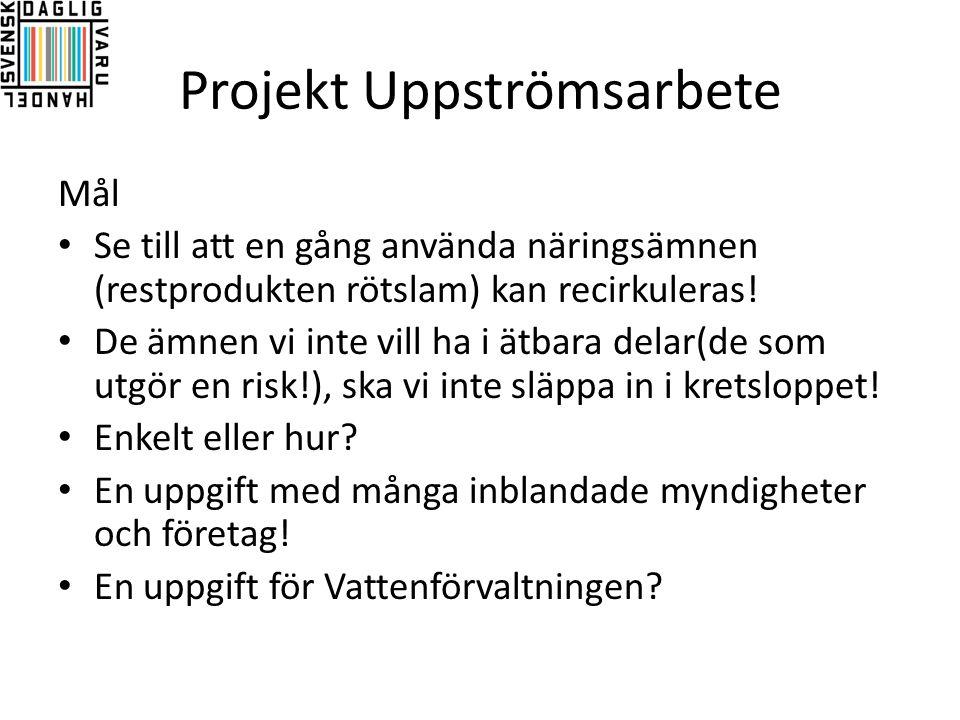 Projekt Uppströmsarbete
