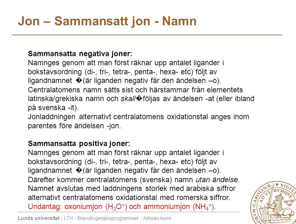 Jon – Sammansatt jon - Namn