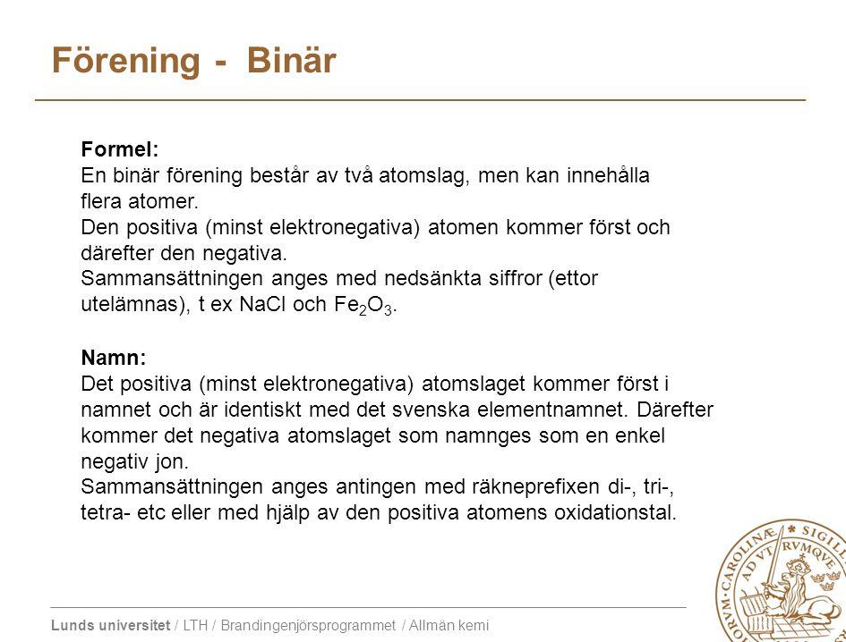 Förening - Binär Formel: