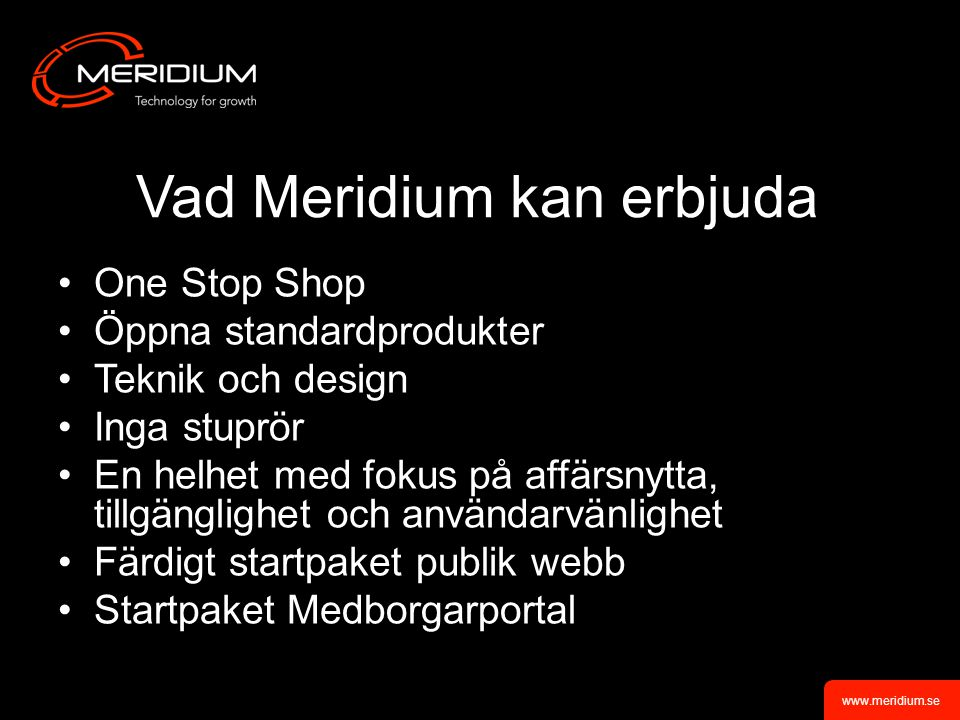 Vad Meridium kan erbjuda