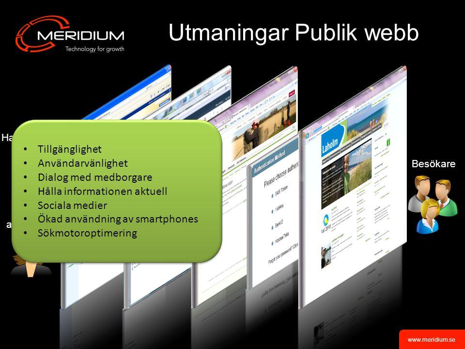 Utmaningar Publik webb