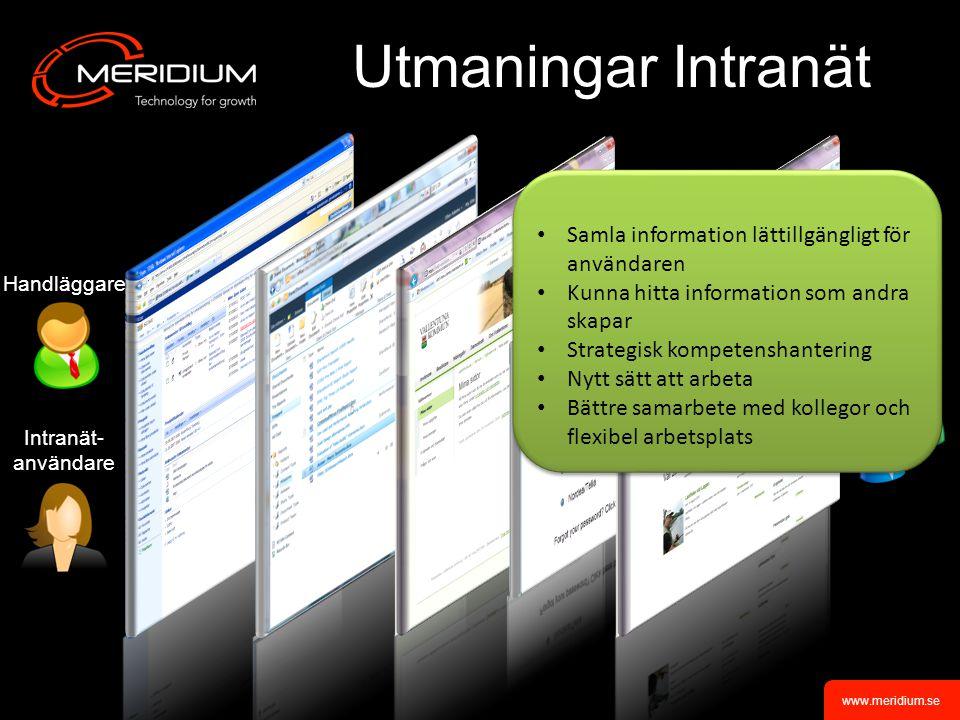 Utmaningar Intranät Samla information lättillgängligt för användaren