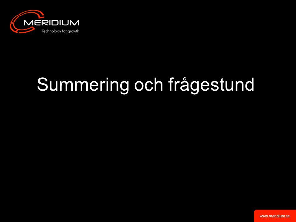 Summering och frågestund