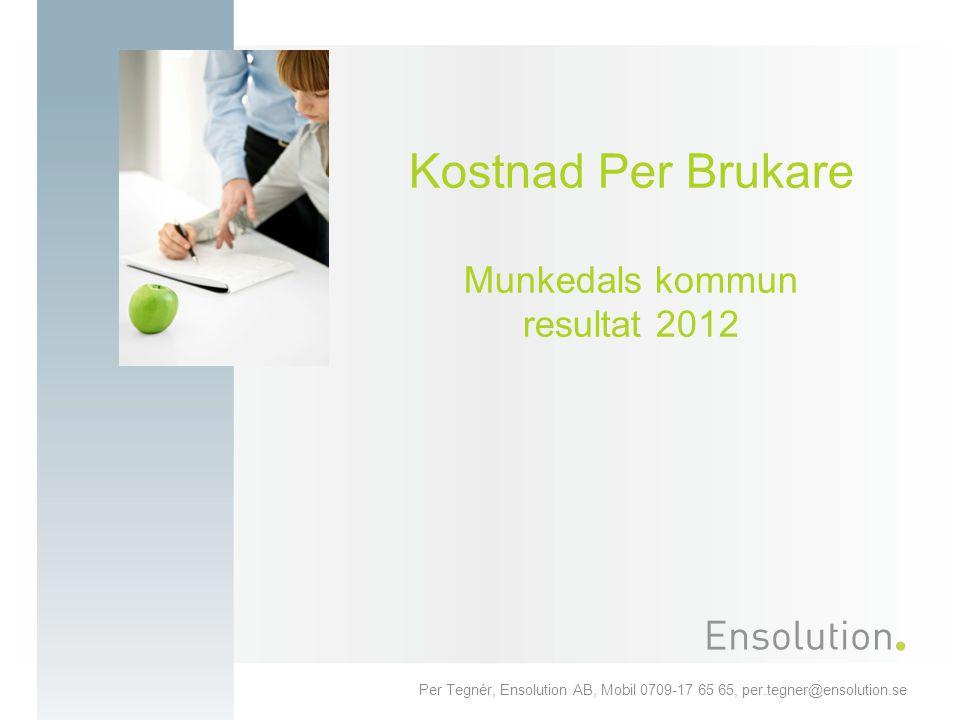Kostnad Per Brukare Munkedals kommun resultat 2012