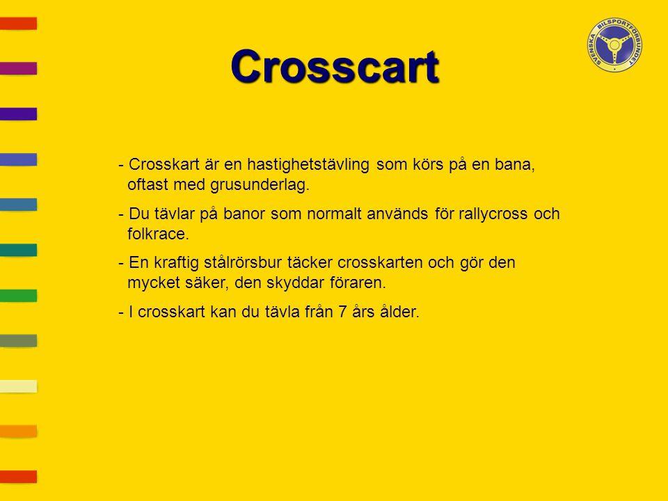 Crosscart Crosskart är en hastighetstävling som körs på en bana,