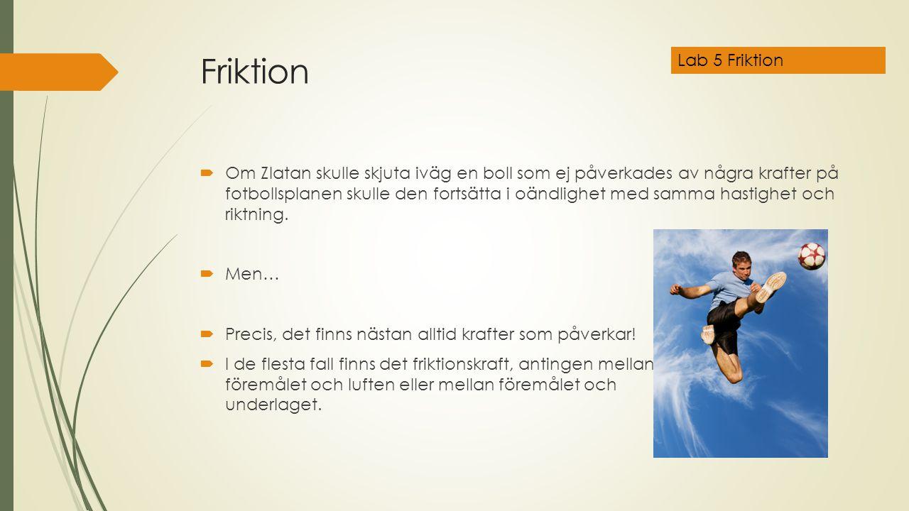 Friktion Lab 5 Friktion.