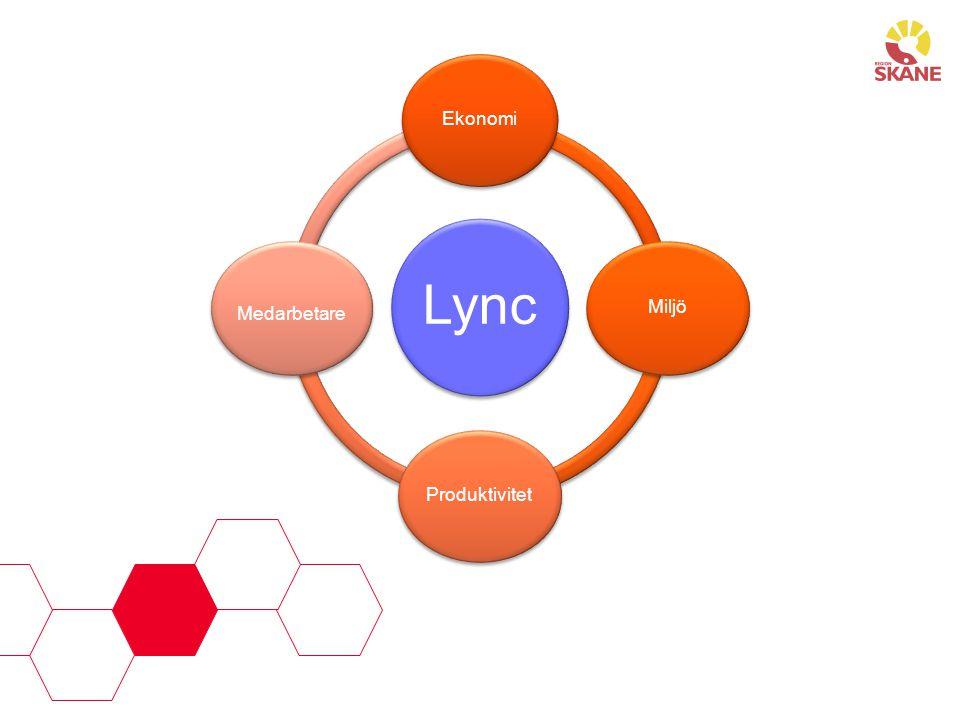 Lync Ekonomi Medarbetare Miljö Produktivitet Fyra perspektiv