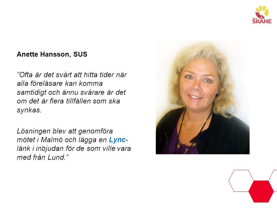 Anette Hansson, SUS