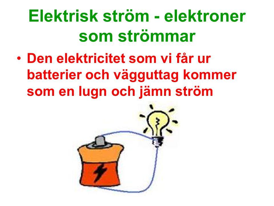 Elektrisk ström - elektroner som strömmar