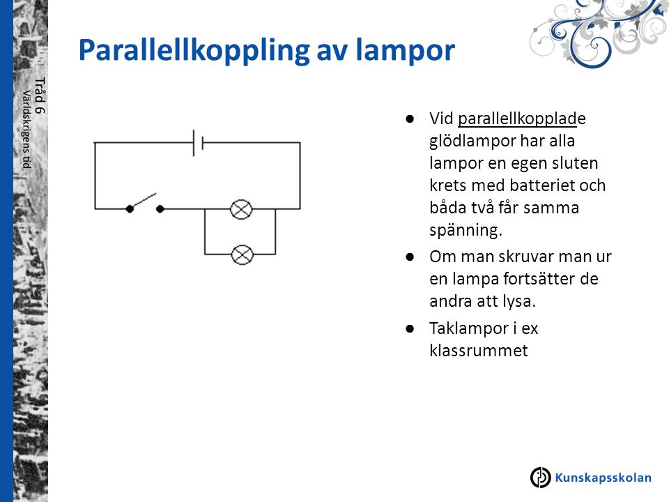 Parallellkoppling av lampor