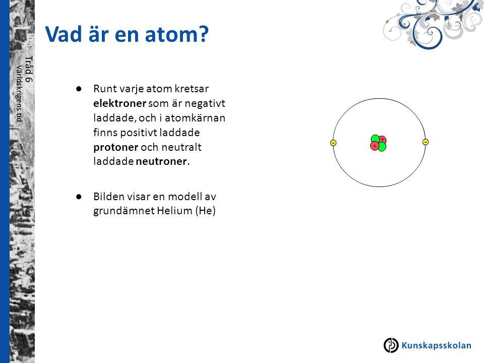 Vad är en atom
