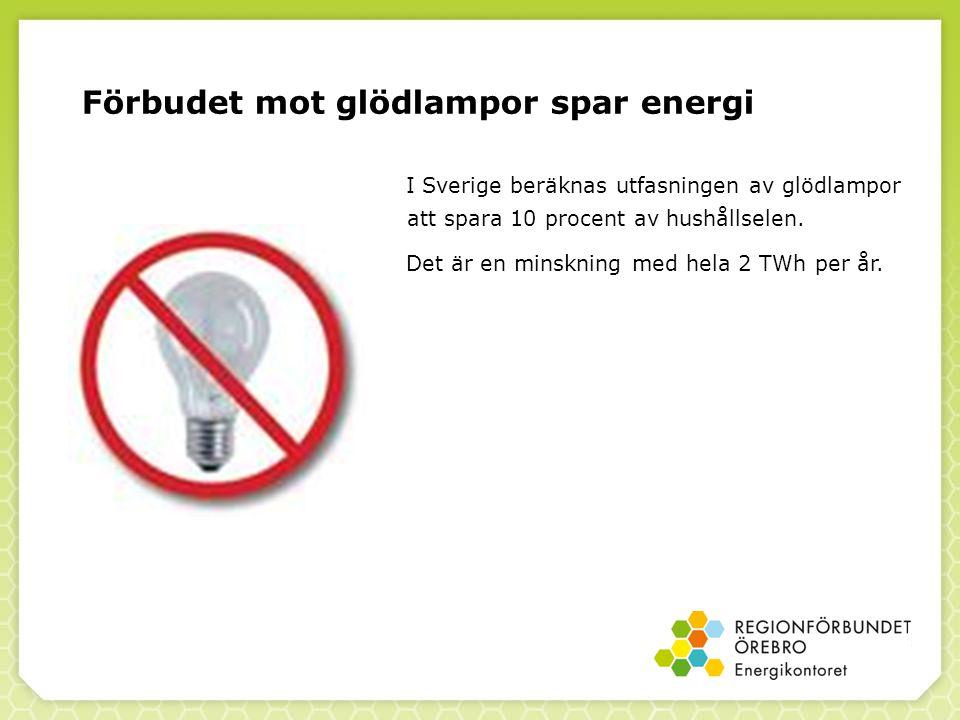 Förbudet mot glödlampor spar energi